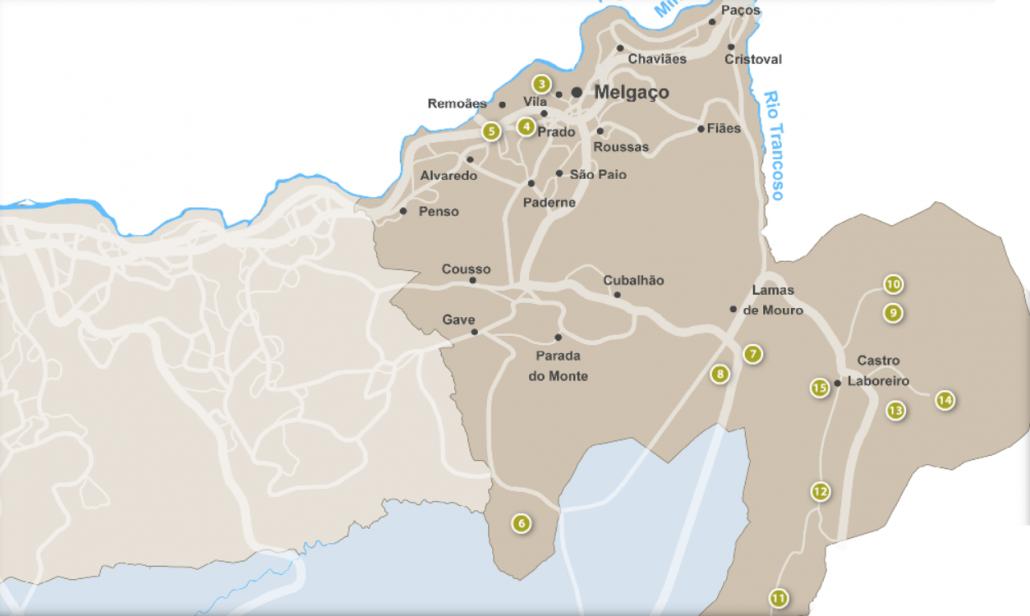 mapa melgaco Pontos de interesse – Portal Municipal de Melgaço mapa melgaco